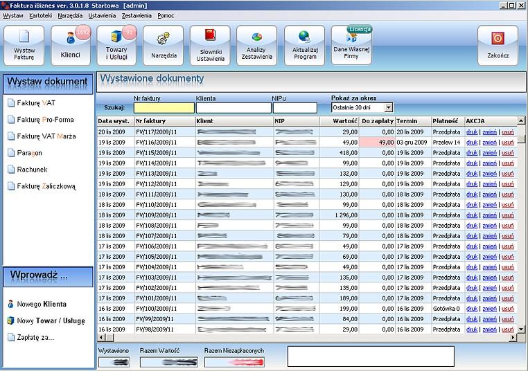 c9d0d196 Program do faktur VAT iBiznes - Startowa - FirmaTec Sp.J.
